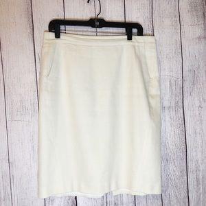 Ann Taylor cream color skirt
